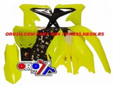 New RMZ 250 10-16 Plastic Kit Neon Yellow Racetech Motocross Plastics